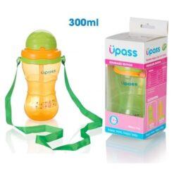 Bình ống hút Upass 300ml có dây đeo cho bé từ 12 tháng tuổi UP0300X