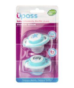 Bộ 2 Ty ngậm chỉnh nha UPASS cho bé không BPA xanh UP0284NX