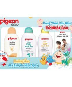 Bộ sản phẩm Pigeon chăm sóc dịu nhẹ cho bé D56002301
