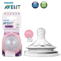 Núm ti silicone Philips Avent Natural cho trẻ sơ sinh