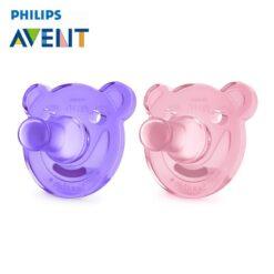 Ty ngậm silicone Philips Avent chuẩn y tế (silicone nguyên khối) cho bé từ 3 tháng tuổi (Hộp 2 chiếc)