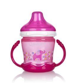 Bình tập uống UPASS 180ml có núm hút mềm cho bé từ 6 tháng tuổi hồng UP0180XH
