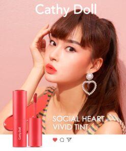 Son tint siêu lì Cathy Doll Social Heart Vivid Tint 3.5g