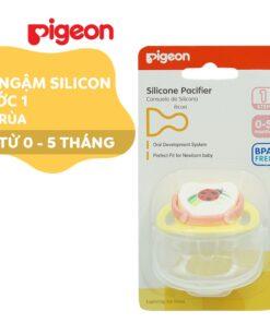 Ty ngậm Silicone Pigeon Bước 1 hình bọ rùa (0 - 5 tháng) D73401400