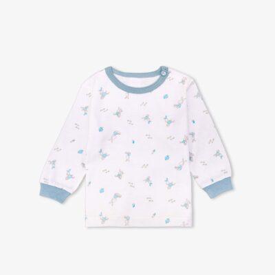 SET 5 áo dài tay Miomio cài vai mỏng - Thỏ xanh