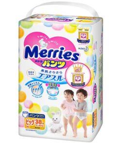 Bỉm/Tã quần Merries size XL 38 miếng (cho bé 12 - 22kg)